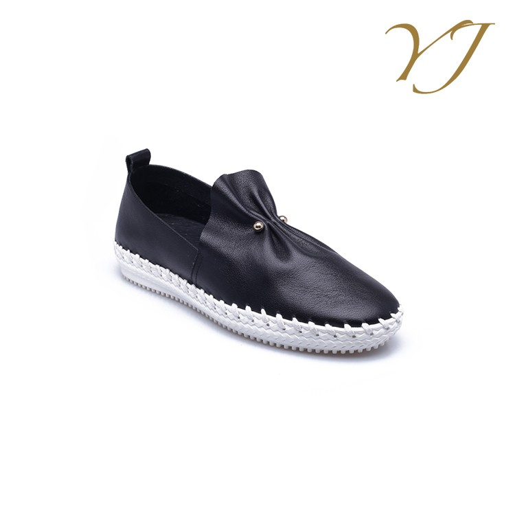 leather leather popular wholesale nice shoes 2016 flat STOCK China shoe genuine most sexy woman elastic casual ladies 84UOqwx