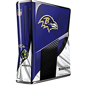 NFL Baltimore Ravens Xbox 360 Slim (2010) Skin - Baltimore Ravens Vinyl Decal Skin For Your Xbox 360 Slim (2010)