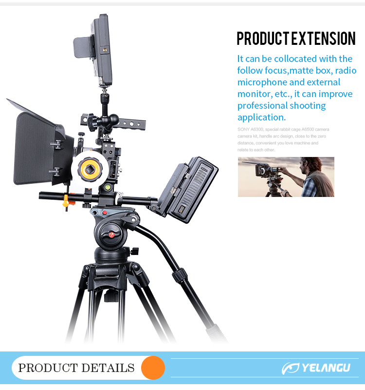 YELANGU Professional A6000/A6300/A6500 Camera Video Cage With 1/4 and 3/8 Screw