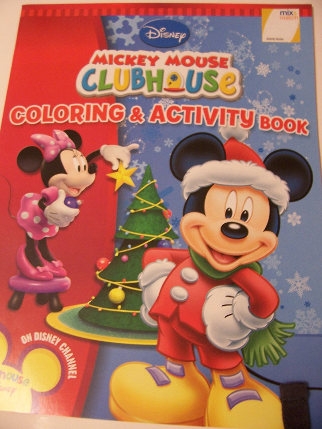 Disney Mickey Mouse Clubhouse Coloring & Activity Book ~ Christmas Edition (Minnie & Mickey Decorating Tree)