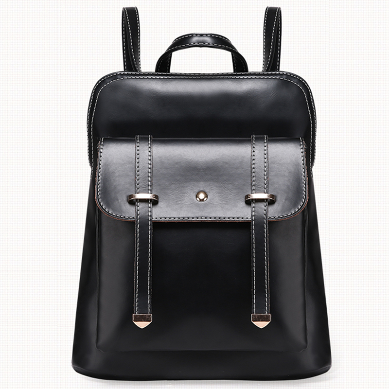 New 2015 PU Black Backpack Women Famous Brand Bags Rucksack School Books Bag For  Teenagers Girls Mochila Feminina Zaino