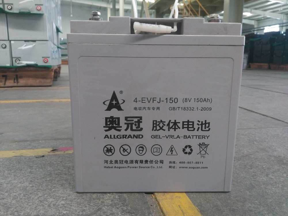 8V 150Ah Rechargeable Free-maintained GEL VRLA Car Battery