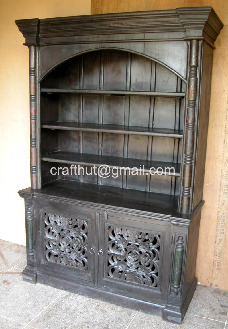 Wooden Antique BookshelfWooden Hutch