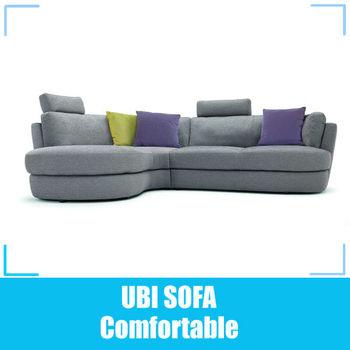 Fabric Round Corner Sofa 201717