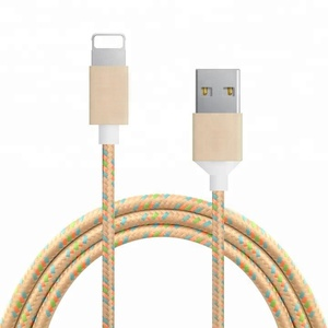 2 meter nylon braided for apple iphone 8 10 X usb data charging cable