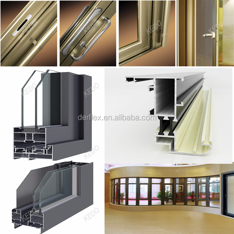 Industrial aluminum thermal break slide windows and doors