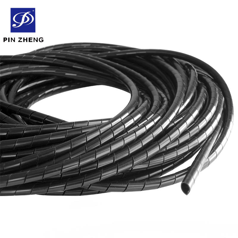 14mm O.d Flexible Pe Spiral Wrap Hose For Electrical Wire Cable ...