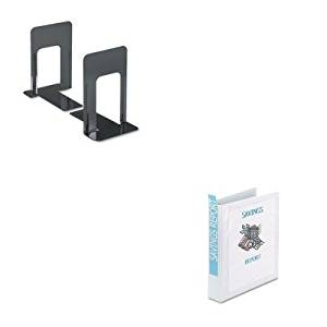 KITAVE19651UNV54095 - Value Kit - Avery Economy Showcase View Binder with Round Rings (AVE19651) and Universal Economy Bookends (UNV54095)