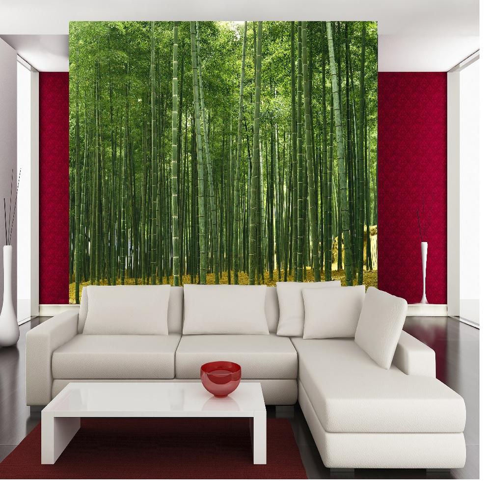 Sfondi 3d decorazione di carte da parati di bambù di Bambù di ...