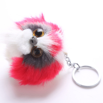 2019 New Arrival Home Decoration Fur cat Keychain for Fashion Women's Bag Pendant