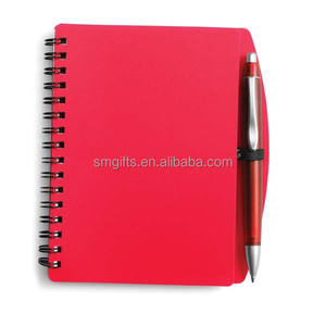 A5 size hardcover school using spiral paper notebook with pen