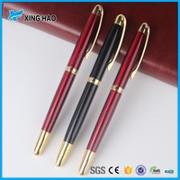 Low MOQ 100pcs metal business pen with custom logo business pen holder and pen gift set