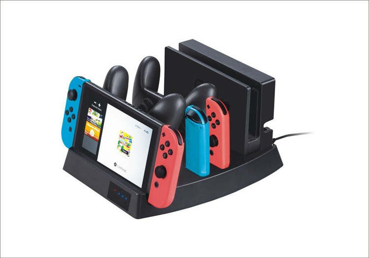SYYTECH Multifunction Charging Stand Station Dock Charger for Nintendo Switch NS Console Joy-con