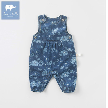 DB5761 dave bella autumn newborn baby girls infant romper one-piece printed cute suits children clothes