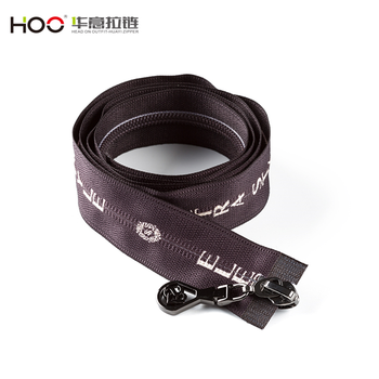 Hot selling two ways open end printed tape Nylon zipper