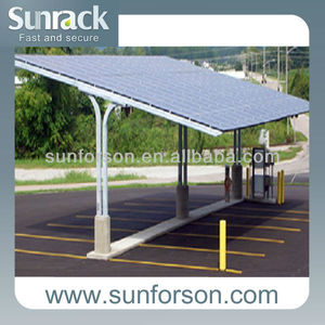 solar waterproof carport mounting structures BIPV