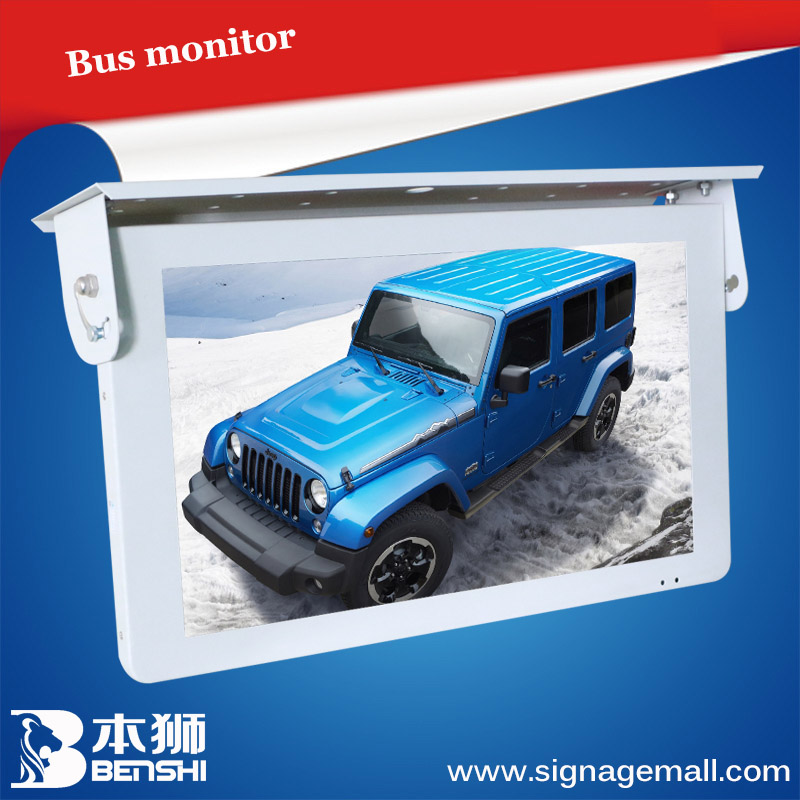 15 inch full HD lcd digital signage/bus roof mounted led monitor