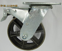 6 inch Cast Iron Caster Top Plate Heavy Duty Caster With Brake