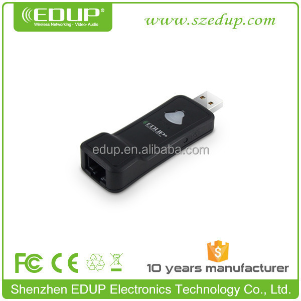 High quality wireless wifi repeater for iptv box EDUP EP-2911 Universal RJ45 150mbps usb wifi dongle wifi direct for iptv stream