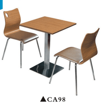 2 Person Stainless Steel Dining Table And Chair Sets Can Ca98