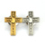 Manufactory production custom plating antique gold silver 3D logo cross lapel pin