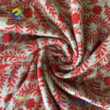 Mediterranean style 100% cotton cambric printed fabric 125gsm