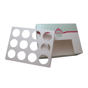 12 hole cake boxes with transparent window, fancy cake boxes