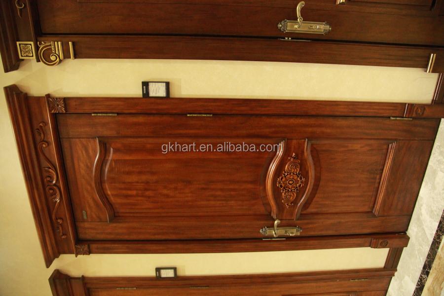 Natural Veneered Wooden Flush Door Design Mdf Living Room: Latest Design Single Leaf Interiorroom Wooden Door