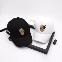 Korean Long belt Snapback Caps Retro hat Men's Personality Metal Your boy Creative Embroidery Baseball Cap Casquette