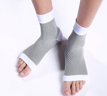 2019High quality  Hot Selling Foot Care High Elastic Breathability Medical Sports Plantar fasciitis Compression Ankle Sock