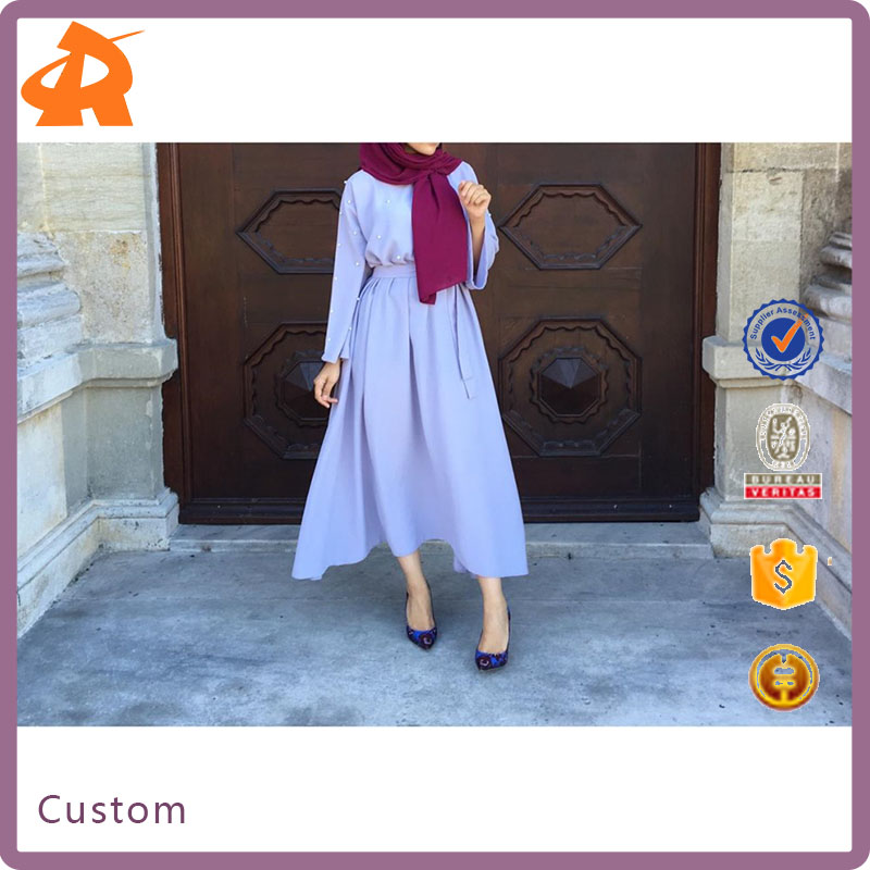 Wholesale Fashion Turkish Abaya 2017 Customize Elegant Muslim Long Models Dubai Dresses