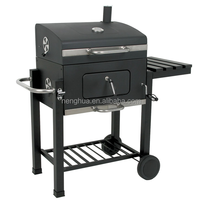 Large garden euro barbecue smoking grill trolley charcoal for Wok garden parrilla