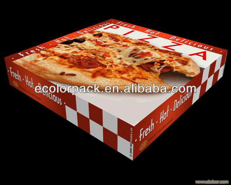food grade rectangular cheap paper pizza box custom foldable take away pizza box