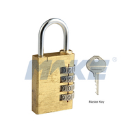 MK711 Security Brass Combination Lock Custom Padlock