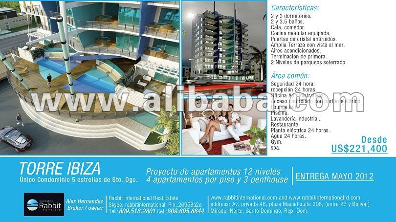 Luxury Apartments For Sale In Malecon Santo Domingo Torre Ibiza Buy Oceanfront Apartment Torre Ibiza Product On Alibaba Com