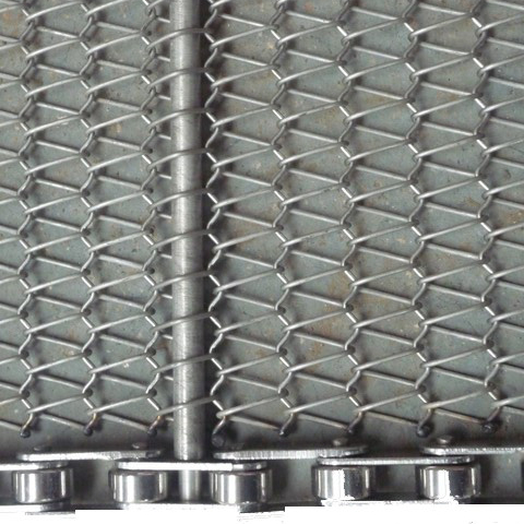non distortion ss304 flat wire link diamond type wire mesh