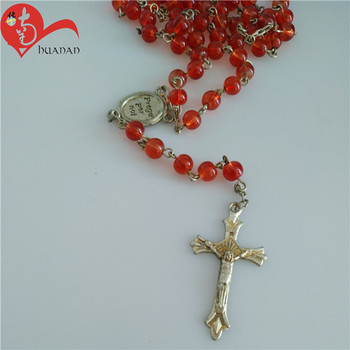 Hot Selling Fancy  Catholic Religious Chain Jewelry Rosary Necklace