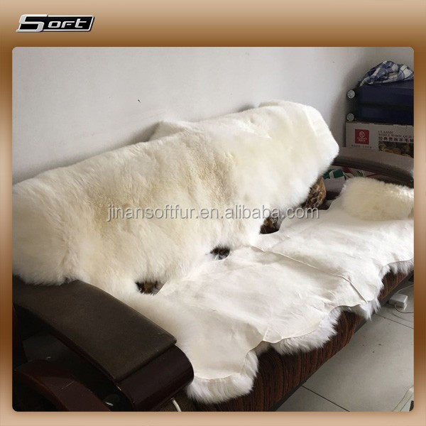 2 lot Double pcs Sheared Real Sheepskin fur carpets 60*180cm