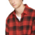 Wholesale latest custom 100% cotton red & black fashion plaid flannel shirt men