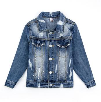 Dl20295f 2018 Latest Design Kid Winter Jacket Girls Short Denim