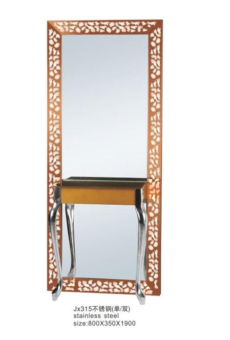 Beauty Salon Mirror Station Stainless Steel Styling Salon