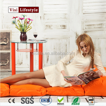 Visi Folding Beanbag High Quality Lazy Chair Corner Sofa Bed Floor Creative Bean Bag