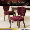 European style button tufted fabric antique dining chair PFS41046