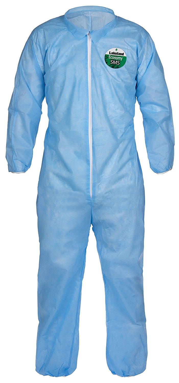 Lakeland Pyrolon Plus 2 Flame-Resistant Disposable Coverall with Hood and Boots White Elastic Cuff Case of 25 3X-Large