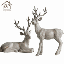 Wholesale life size resin figurines animal christmas decoration for living room place
