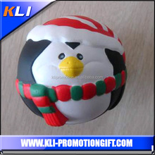 Custom lovely christmas shaped pu anti stress ball