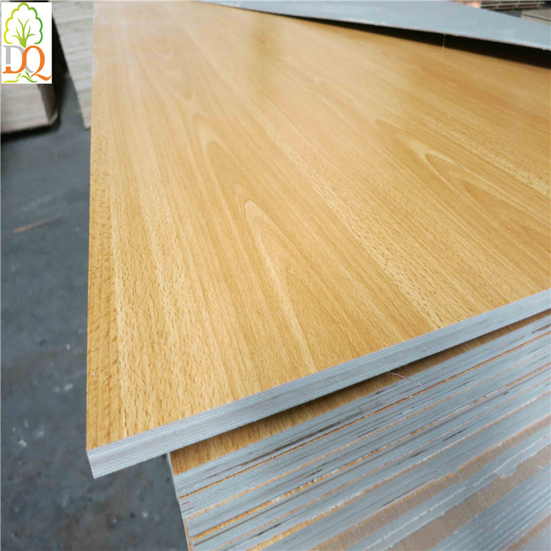 Multi colored melamine paper laminated plywood board