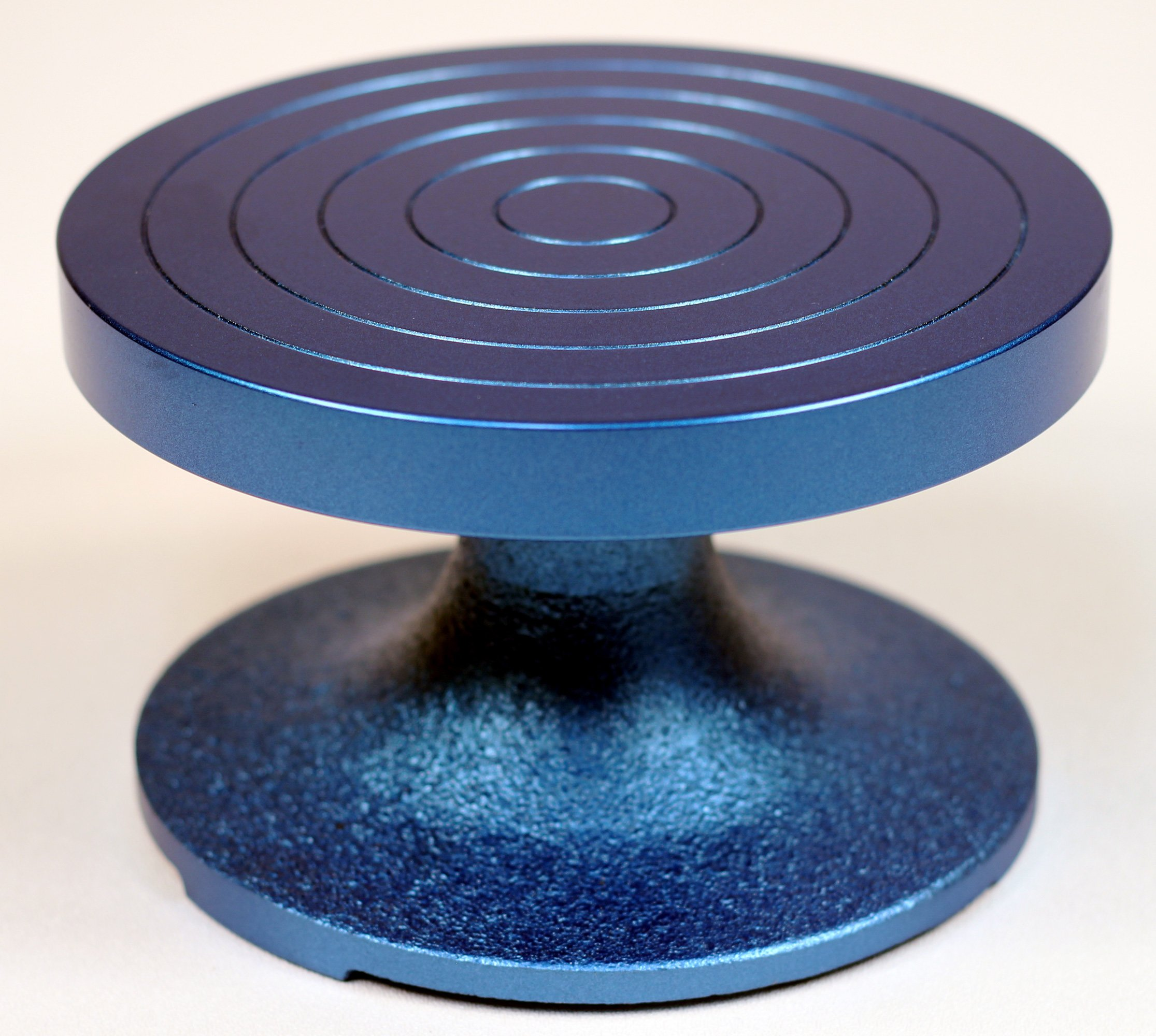 Creative Hobbies BW-18M Professional Sculpting Wheel 7 Inch Diameter, Heavy Duty Solid Cast Iron, Blue Color