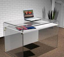 Office Furniture Plexiglass Desk With Shelf