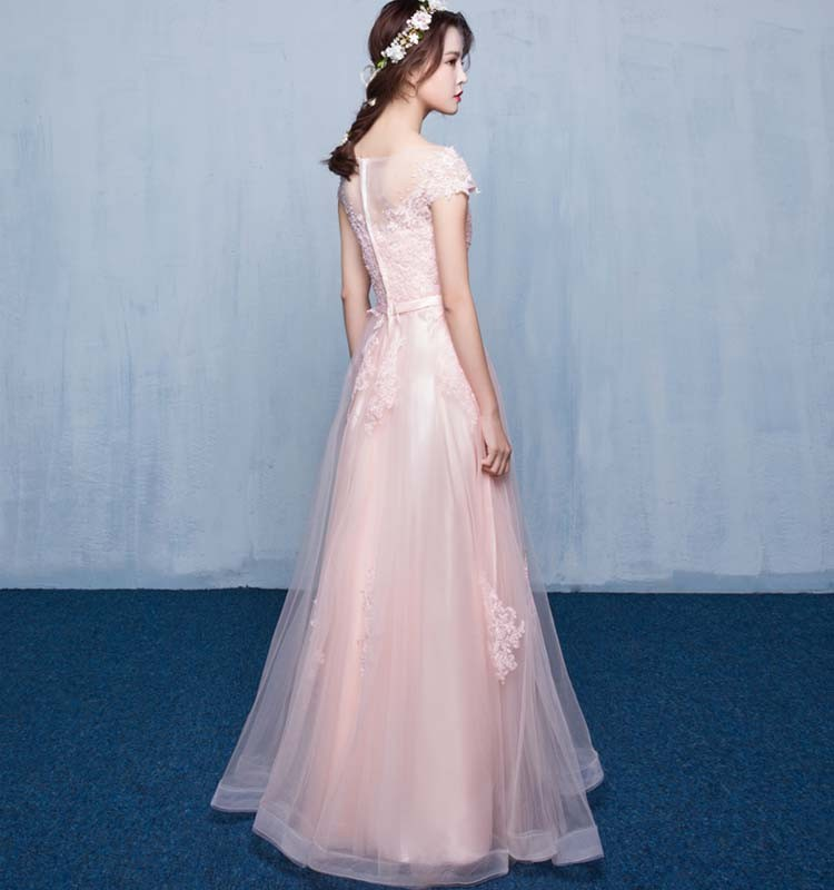 Pink Silver Short Sleeves Sex Prom Evening Gown Designs For Fat ...